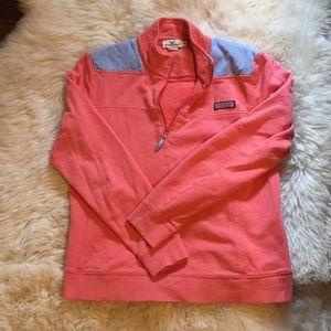 Vineyard Vines Shep Shirt Peach/Lavender MED